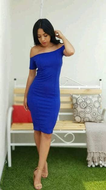 Vestido Azul Rey Largo Casual Vestidos Populares 2019