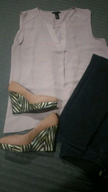 Blusa lila sin mangas H&M