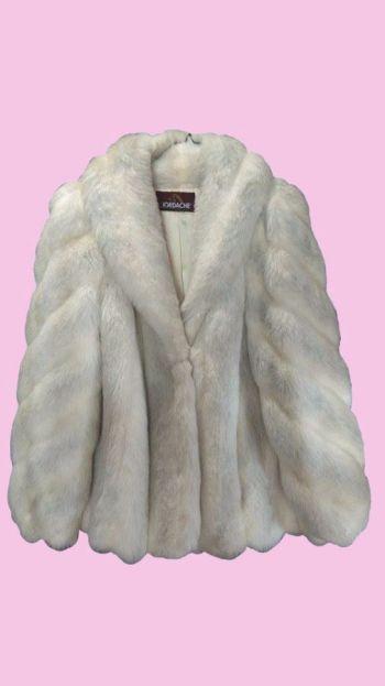 Abrigo Blanco Pelo sintético