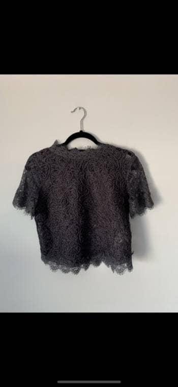 Camisa encaje zara