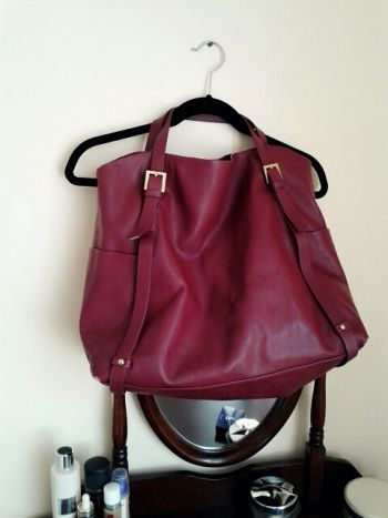 Maxi bolsa color vino