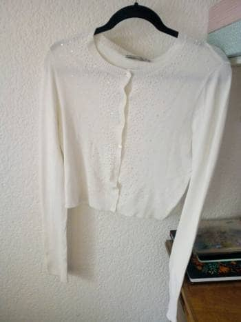 Sueter crop blanco