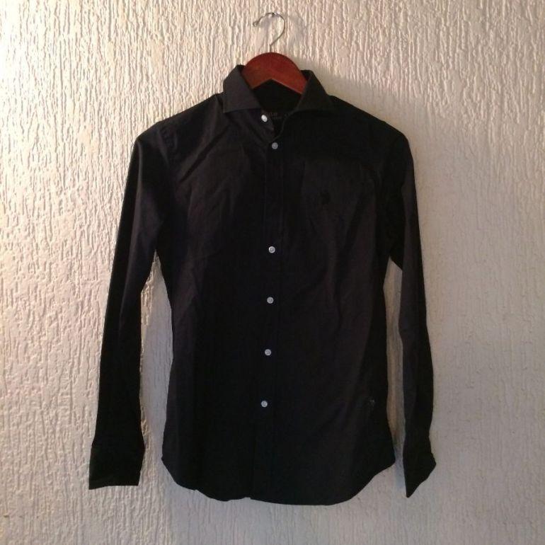 código promocional 04a8b 76f0b Camisa polo negra
