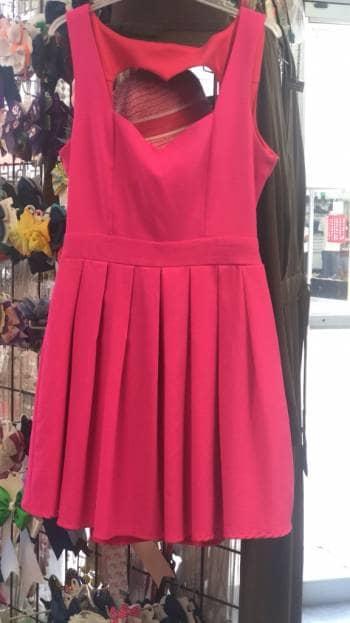 Vestido rosa de corazon