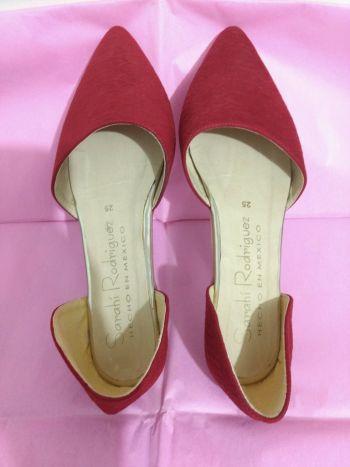Flats rojos nuevos