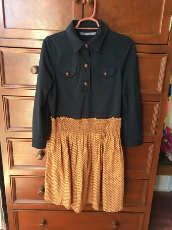 Vestido manga 3/4 tipo camisero