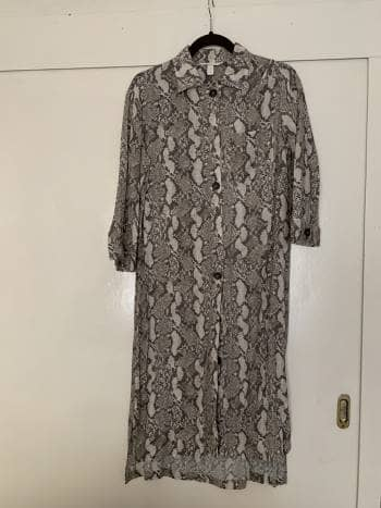 Camisa larga de animal print