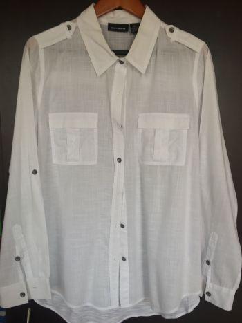 DKNY Jeans Blusa ligera lino