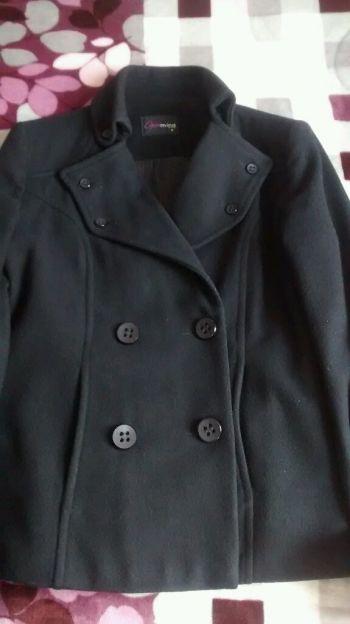 Abrigo Negro a la cintura