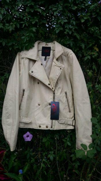 Moto jacket tipo piel