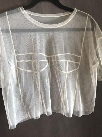 Blusa transparente bustier