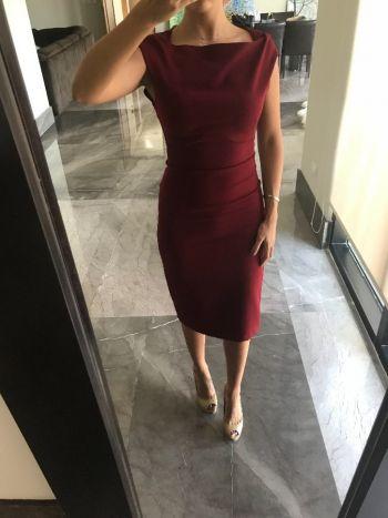 Vestido pegado formal Rojo quemado