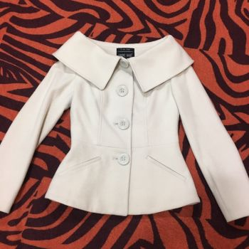 Abrigo de lana beige