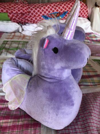 NUEVAS Pantuflas Unicornio Lilas