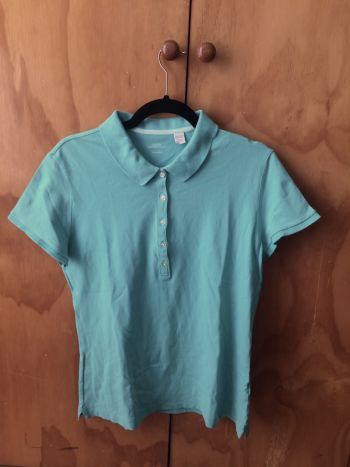 ♥️Playera aqua tipo polo