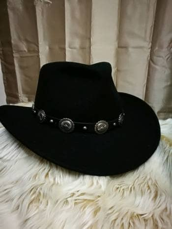 Sombrero wool negro