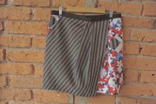 Falda con print