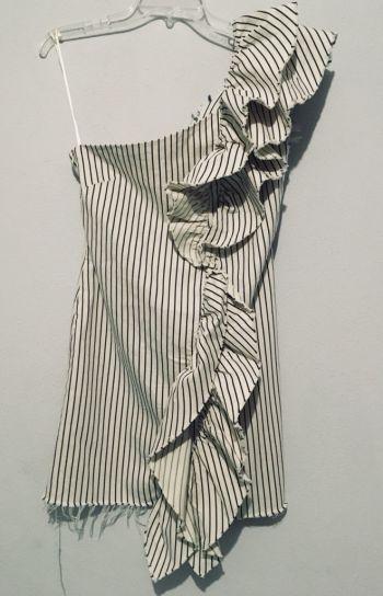Vestido Zara asimetrico