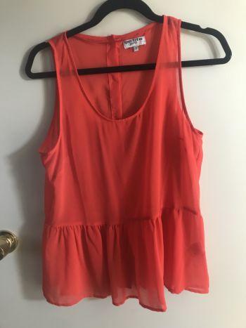 Blusa tranoarente roja