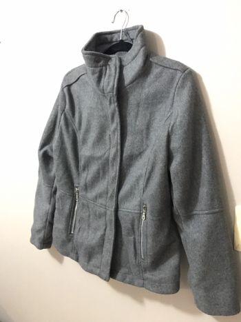 Abrigo gris felpado
