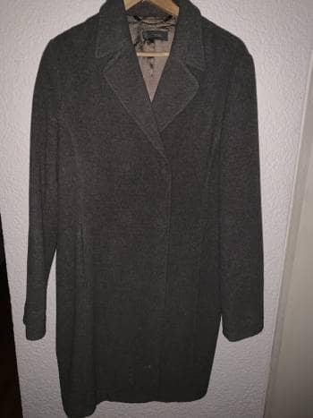 Abrigo gris de lana, talla XL, Mango