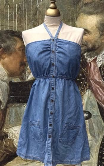 Vestido denim azul