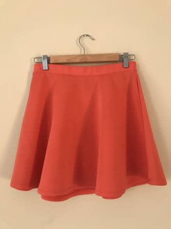 Statement coral skirt
