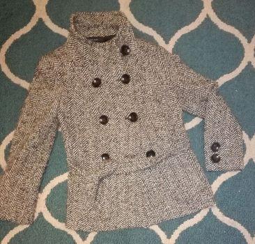 Abrigo de lana jaspeado