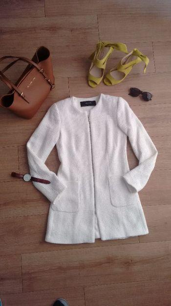 Abrigo Largo blanco de Zara