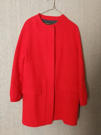Abrigo corto rojo