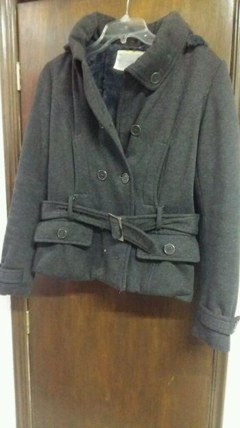 Abrigo casual color gris