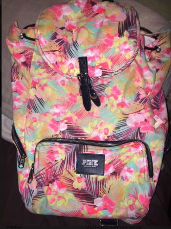 Mochila tropical victoria secret pink