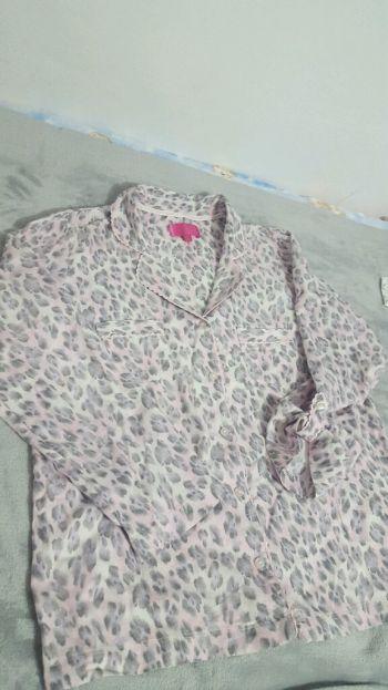 Pijama tipo franela manga larga 2X1 1/2