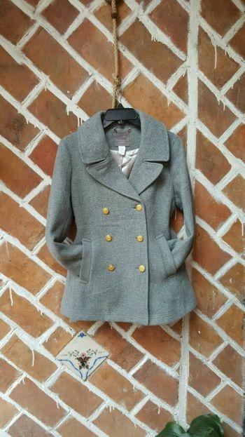 Abrigo gris lana J. Crew❤