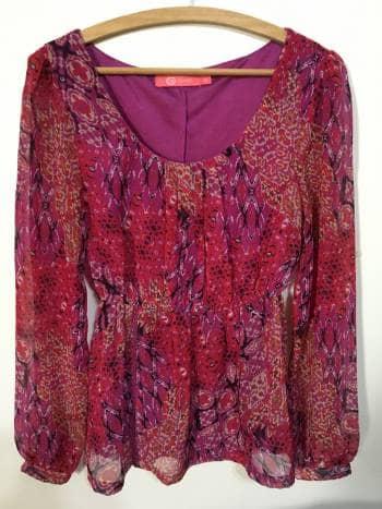 Blusa Bohemia con estampado de colores