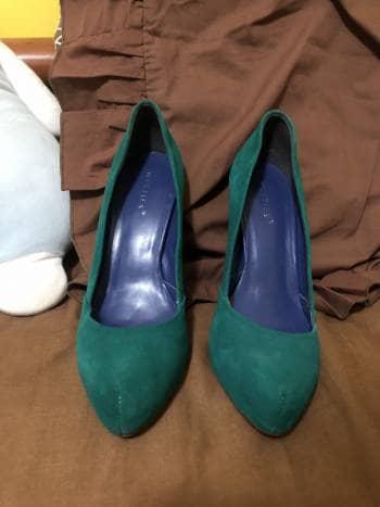 Zapatillas de tacon verdes