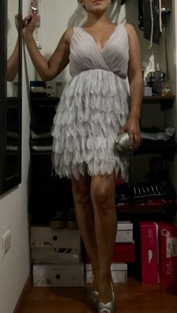 Vestido flapper lavanda/gris