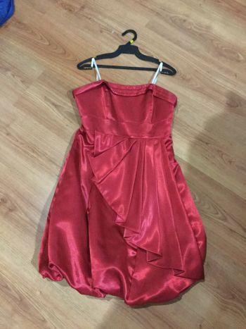 Vestido rojo corto fiesta coktail