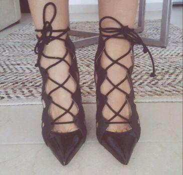 VENDIDOS! Zapatos ZARA lace up open work