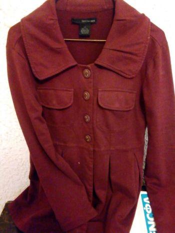 Abrigo corto de algodón CK