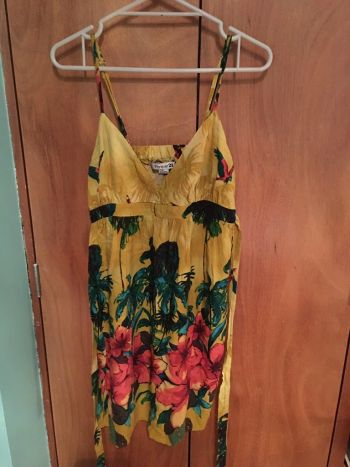 Promo Buen fin Vestido floral amarillo 2x200
