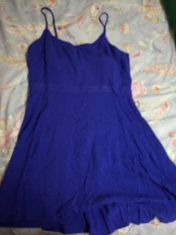 Vestido azul espalda descubierta