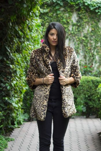 Abrigo Forever 21 Animal Print-Leopardo
