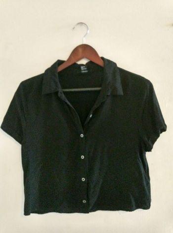 Camisa corta Negra