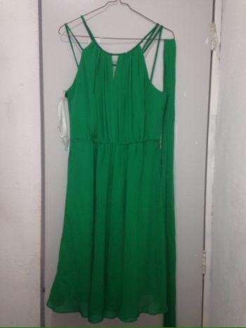 Vestido fiesta verde david bridal