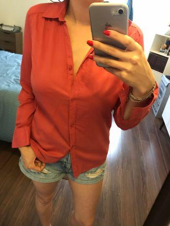 2 Camisas Divided H&M 2 colores Salmon y khaki
