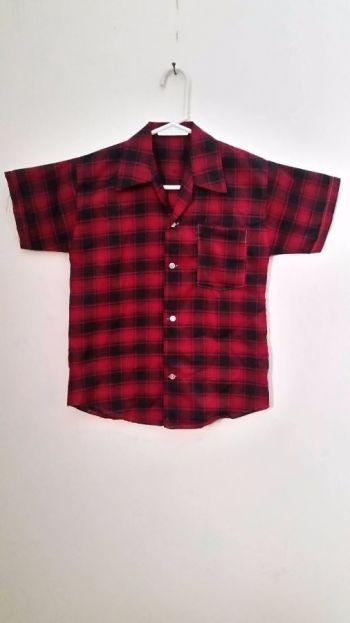 Camisa de cuadros de manga corta