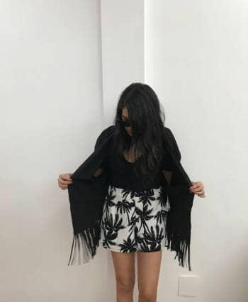 Kimono de gamuza