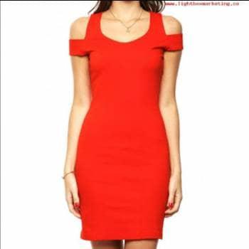ed6ed284e2 Vestido Rojo entallado - GoTrendier - 590029