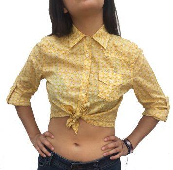 Camisa corta  amarilla